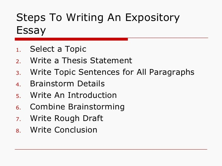 How to be a better essay write expository