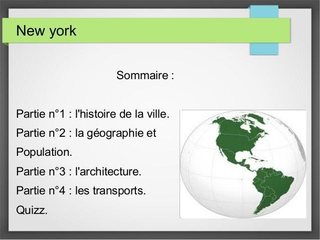Sommaire : Partie n°1 : l'histoire de la ville. Partie n°2 : la géographie et Population. Partie n°3 : l'architecture. Par...
