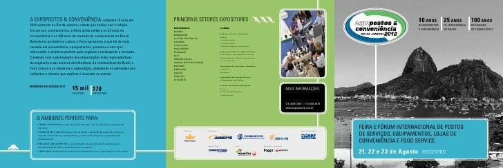 A EXPOPOSTOS & CONVENIÊNCIA completa 10 anos em                                        PRINCIPAIS SETORES EXPOSITORES     ...