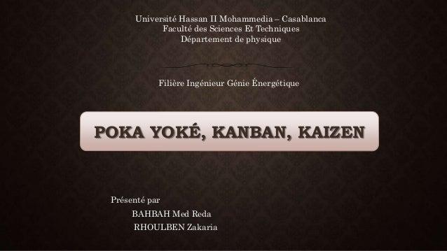 Université Hassan II Mohammedia – Casablanca  Faculté des Sciences Et Techniques  Département de physique  Filière Ingénie...