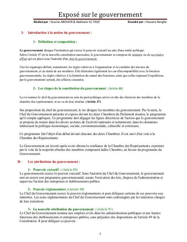 Le gouvernement marocain