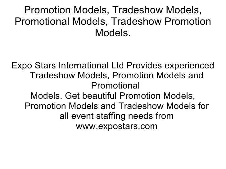 Promotion Models, Tradeshow Models, Promotional Models, Tradeshow Promotion Models. Expo Stars International Ltd Provides ...