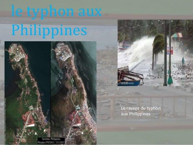 le typhon aux Philippines  Le ravage du typhon aux Philippines