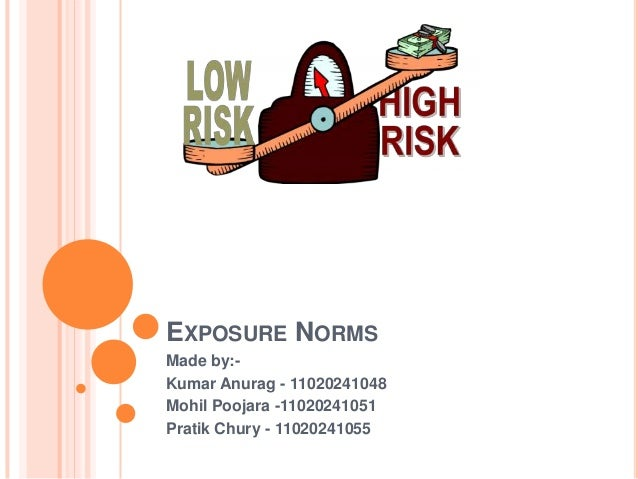 EXPOSURE NORMSMade by:-Kumar Anurag - 11020241048Mohil Poojara -11020241051Pratik Chury - 11020241055
