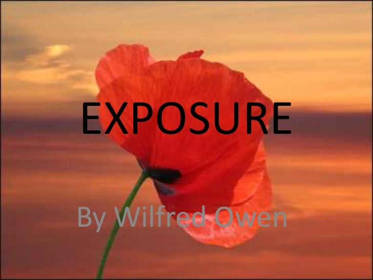 essays on exposure by wilfred owen