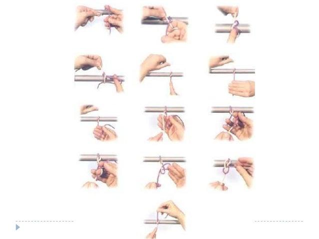 Nudos con instrumental  Adecuado cuando ambos extremos del hilo son cortos o para ahorrar material de sutura