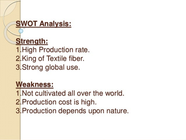 """swot analysis on doman synthetic fibres As a result of i-swot analysis of their individual opportunities and  in the """" health status domain"""", which corresponds to domain 4 of our ot."""