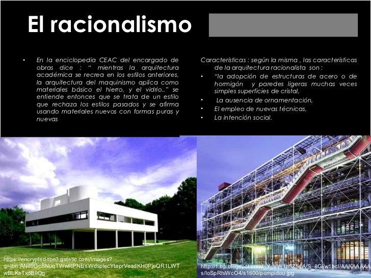 Modernidad tard a racionalismo descontructivismo alta for Arquitectura racionalista