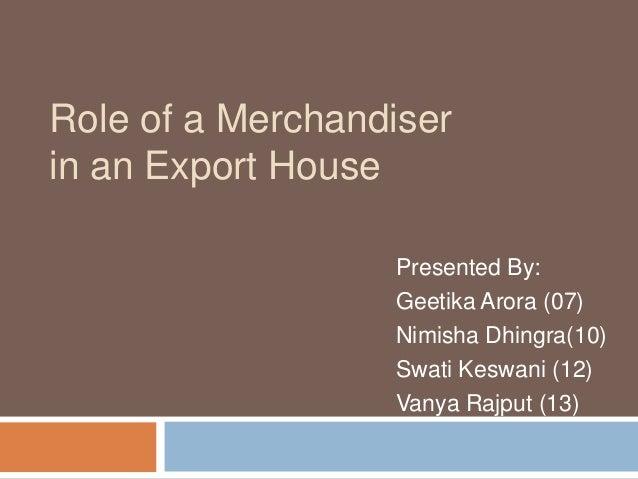 exp ppt  2  export merchandising