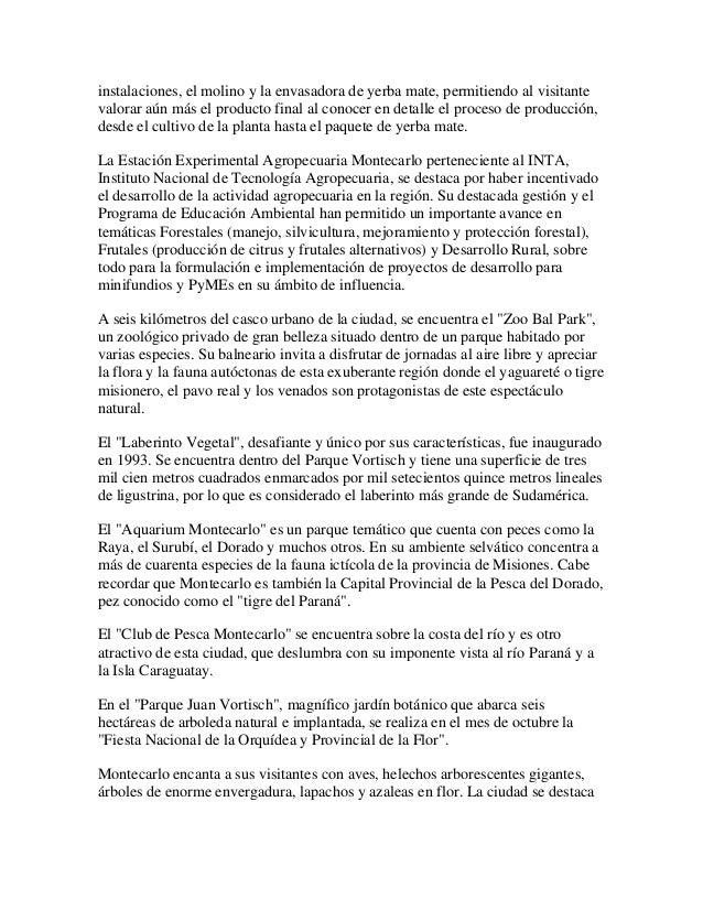 Expresar beneplacito por el 93 aniversario de la fundacion de la ciudad de montecarlo, provincia de misiones, a celebrarse el 4 de mayo de 2013. Slide 3