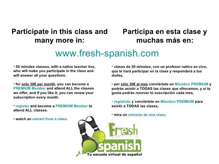 Learn Spanish with Fresh Spanish: Expresar Deseos y Objetivos I Slide 3