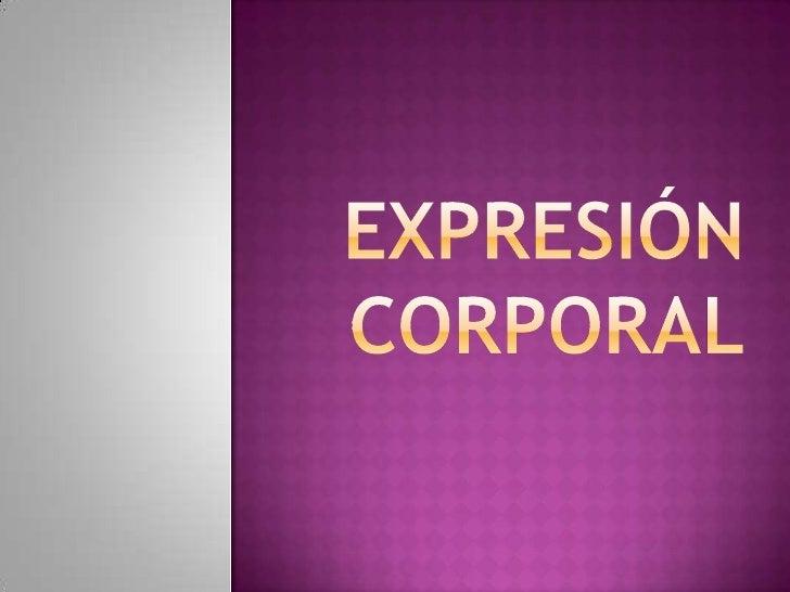 Expresión corporal<br />