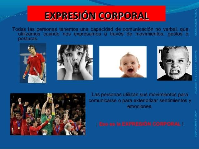 EXPRESIÓN CORPORALEXPRESIÓN CORPORAL Todas las personas tenemos una capacidad de comunicación no verbal, que utilizamos cu...