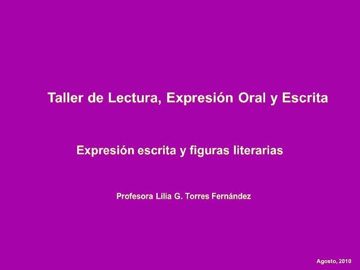Expresión escrita y figuras literarias