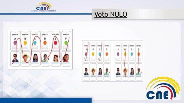 Resultado de imagen para ecuador voto nulo
