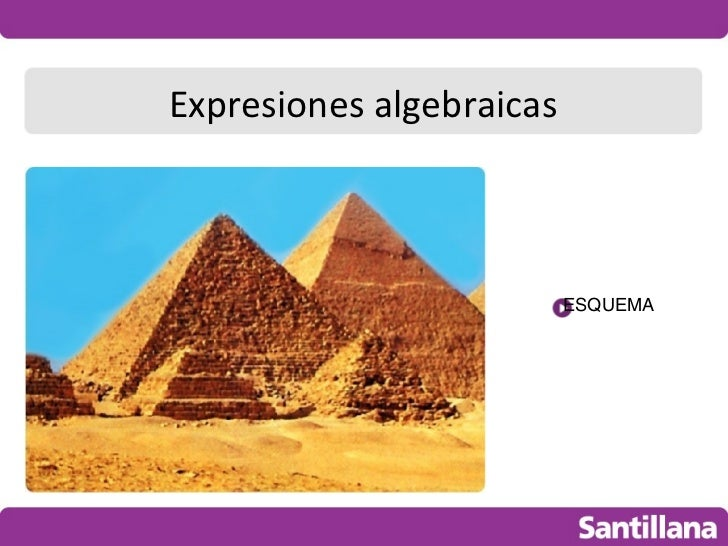 Expresiones algebraicas                          ESQUEMA