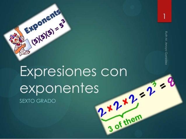 1  Expresiones con exponentes SEXTO GRADO