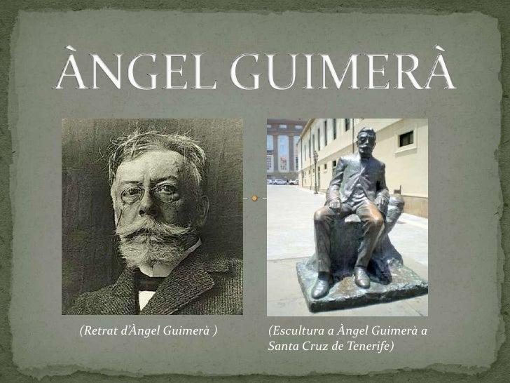 (Retrat d'Àngel Guimerà )   (Escultura a Àngel Guimerà a                            Santa Cruz de Tenerife)