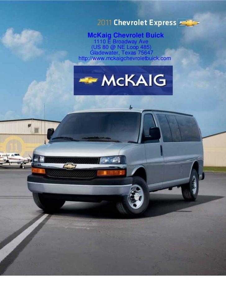 2011 chevrolet express van for sale longview texas mckaig chevrolet. Black Bedroom Furniture Sets. Home Design Ideas