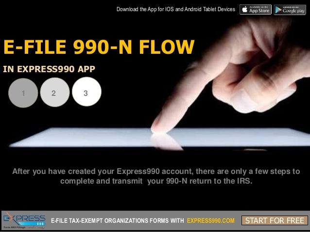 Everything you need to know about Express990 app - E-file Form 990-N …