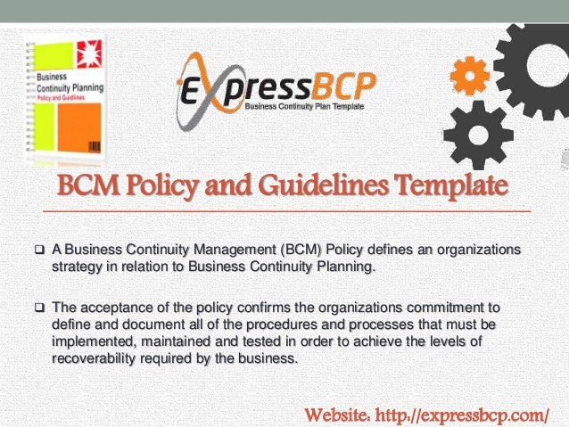Business Continuity Policy Template Vosvetenet – Business Continuity Templates