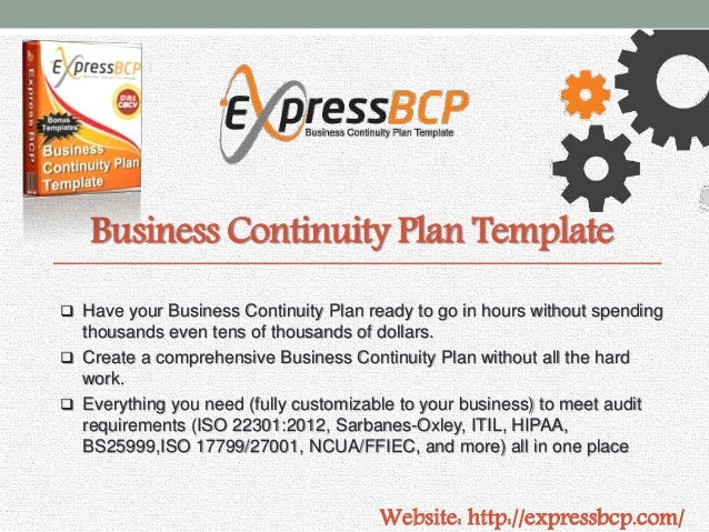 Business Continuity Plan Template ...  Business Continuity Templates