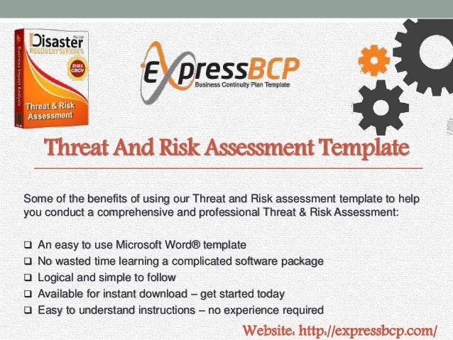 Express bcp business continuity plan template 5 threat and risk assessment template wajeb Gallery