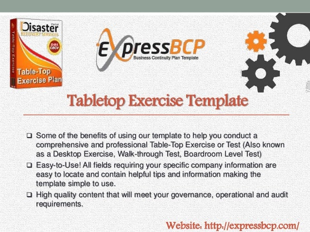 Express bcp business continuity plan template 6 tabletop exercise template flashek Image collections