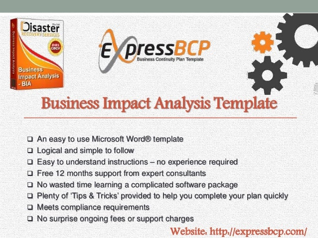 Business Impact Analysis Template ...  Free Business Continuity Plan Template