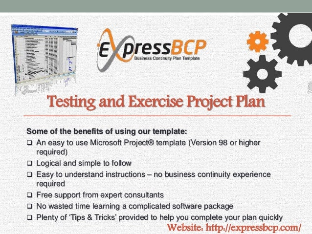 Express bcp business continuity plan template 8 testing and exercise accmission Images