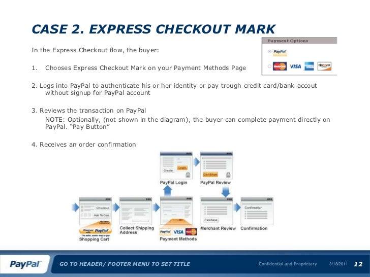 Express checkout ecs & ecm