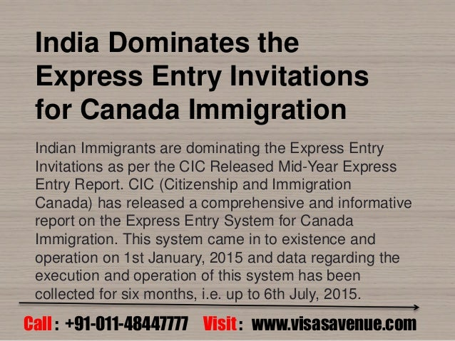 Express entry invitations for Canada immigration