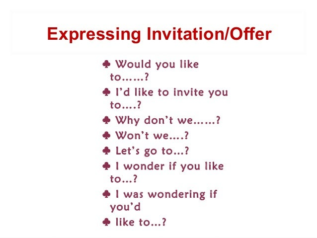 Expressing invitation and offer expressing an invitationoffer 2 stopboris Gallery