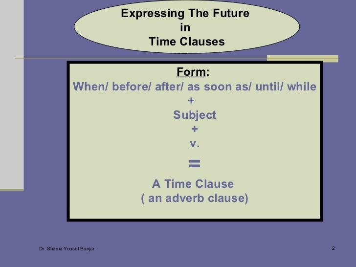 Expressing The Future In Time Clauses Slide 2