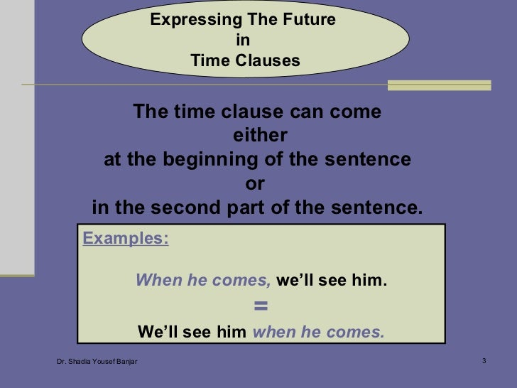 Expressing The Future In Time Clauses Slide 3