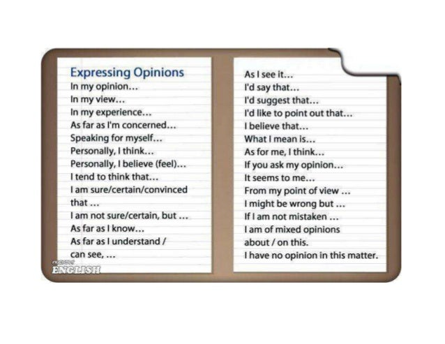 giving opinions Giving and expressing opinions in english agreeing and disagreeing with points of view english vocabulary - vocabulario inglés.