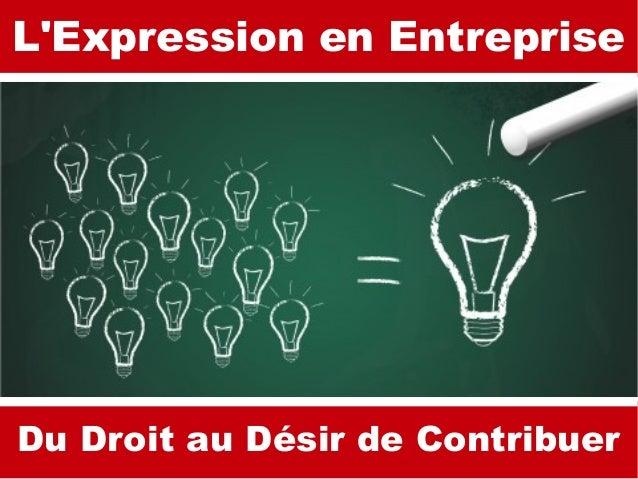 Brainstorming L'Expression en Entreprise Du Droit au Désir de Contribuer