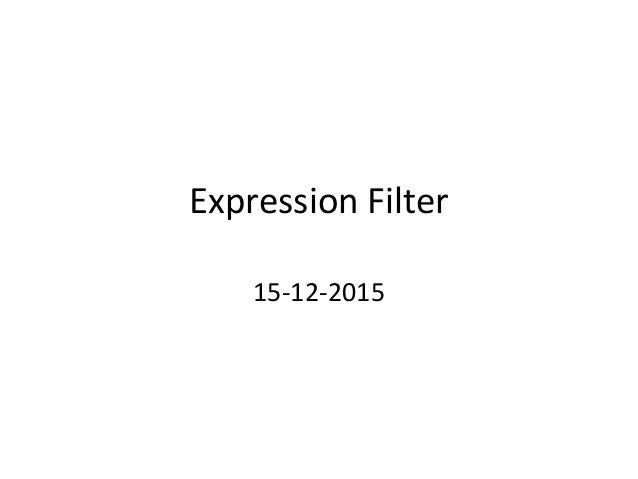Expression Filter 15-12-2015