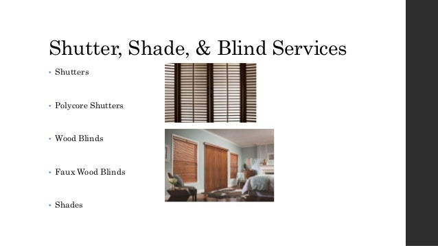 Naples Shutter Company | Expressions in Window Fashions Slide 3