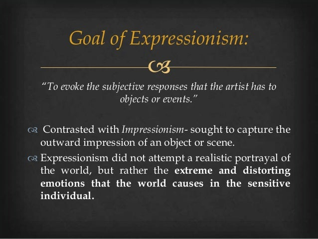 music expressionism What's the same between expressionism and impressionism (art)  the music world will follow in 10 years impressionist art came before impressionist music, but the .