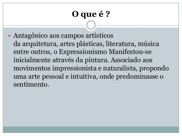 Expressionismo / Arte expressionista Slide 2