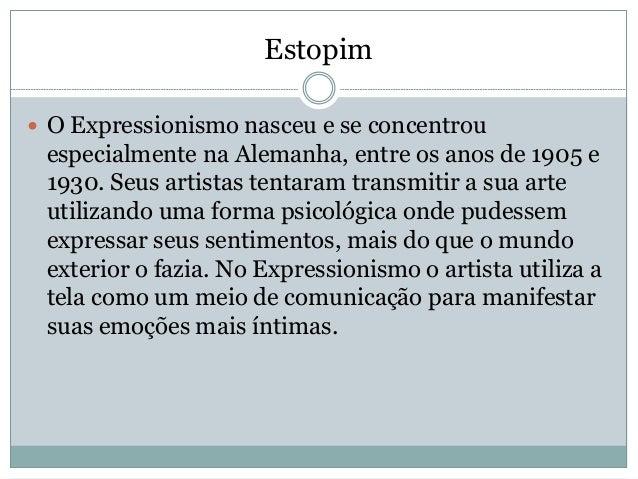 Expressionismo / Arte expressionista Slide 3