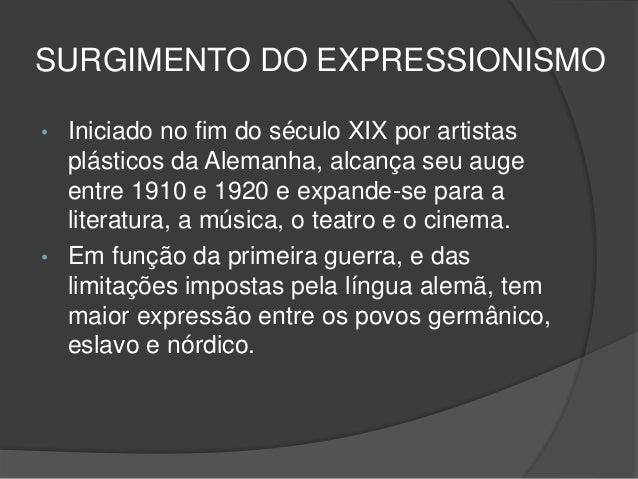 Principais artistas do movimento expressionista