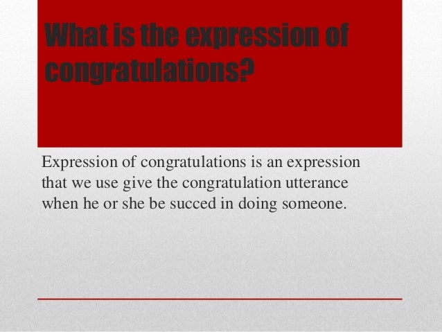 expression of congratulations ppt