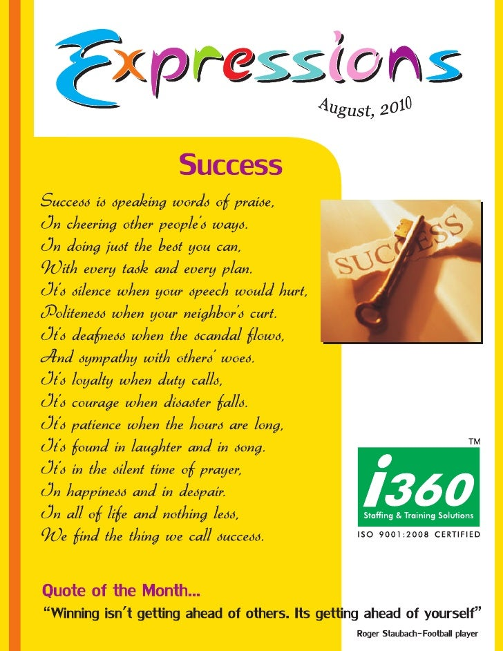 I360 Newsletter Expressions  aug'10