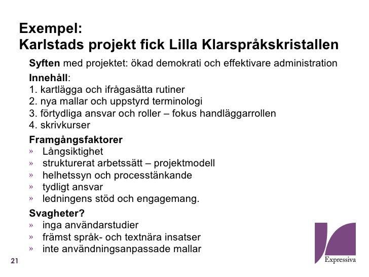 Expressiva  - Klarspråk 2 0 - begriplex 2011