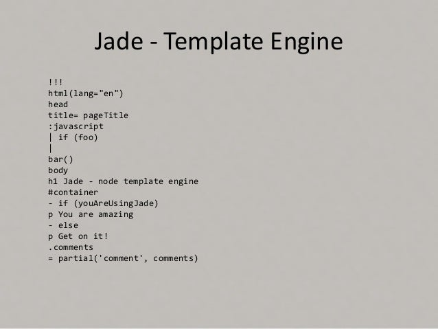 Express js 10 jade template pronofoot35fo Images