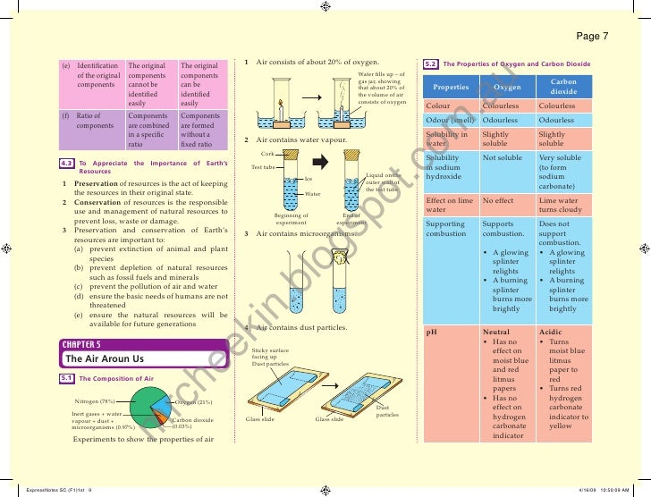 Page 7             (e) Identification      The original     The original    1 Air consists of about 20% of oxygen.         ...