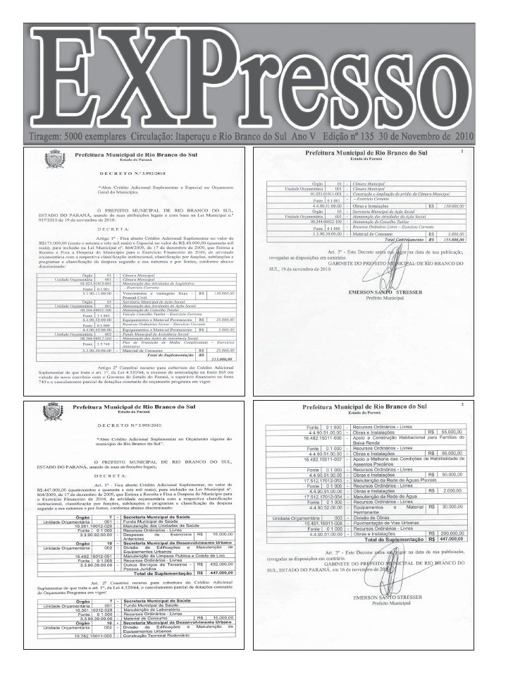 Pág. 2   Edição 135 - 30 de Novembro de 2010                                                         Editora Faria Ltda   ...