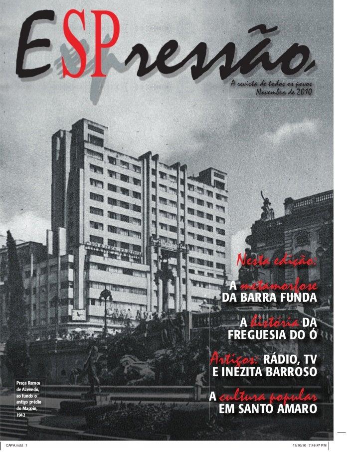A revista de todos os povos                            Novembro de 2010                    Nesta edição:                  ...